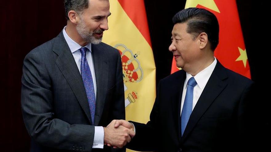 Xi y Felipe VI en una imagen de archivo