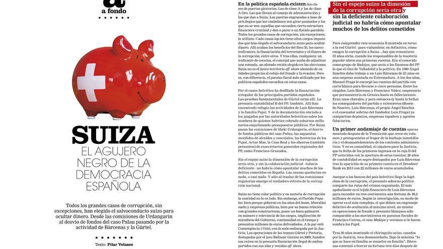 Reportaje de Pilar Velasco sobre Suiza en Cuadernos #7.