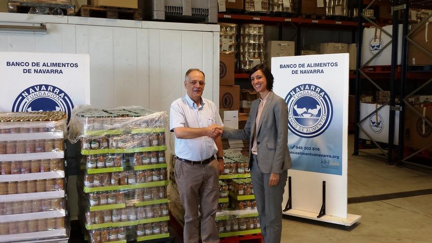 Mercadona entrega kilos de productos al banco de alimentos de navarra - Banco de alimentos de navarra ...