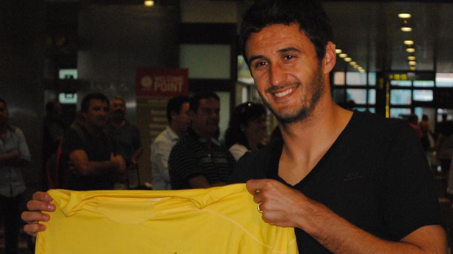 Diego Herner, a su llegada a Gando