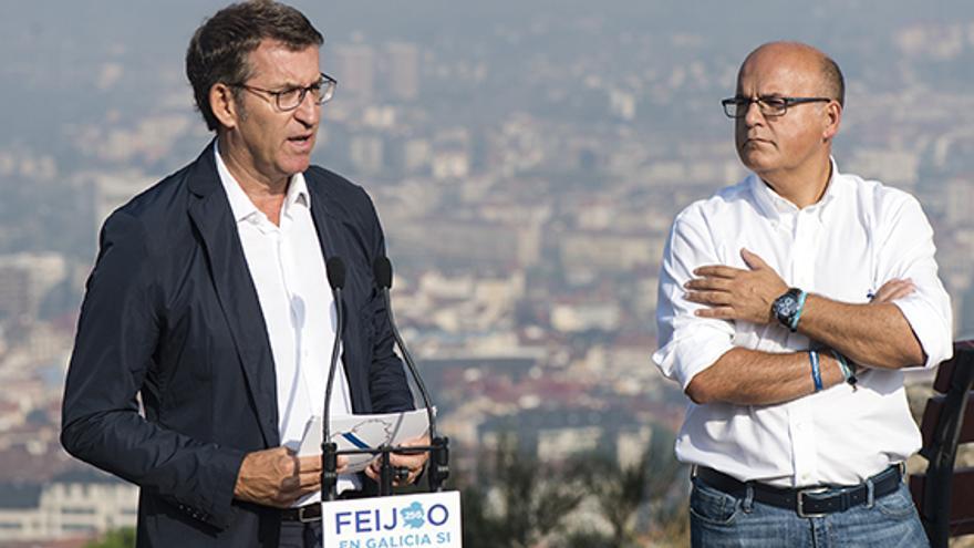 Feijóo y Baltar en la presentación del programa del PP para Ourense