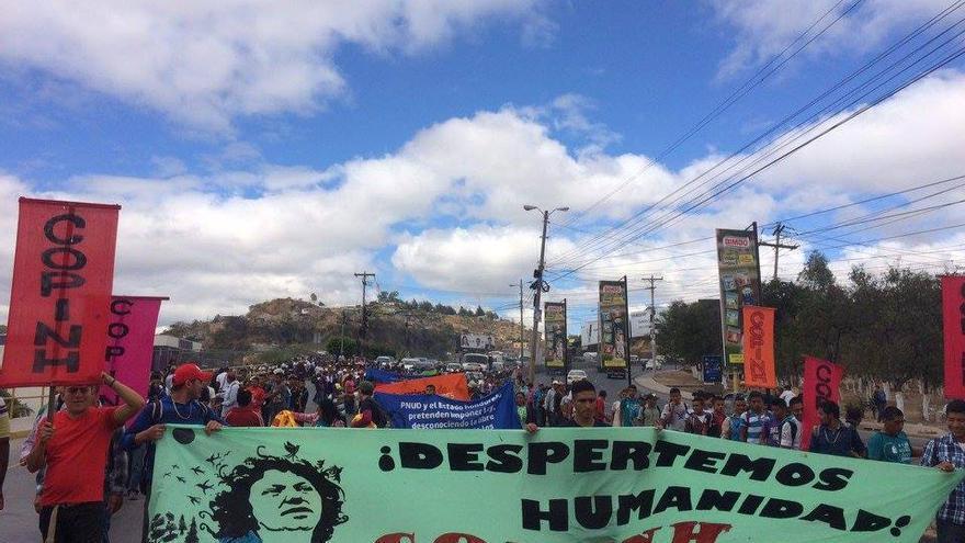 El COPINH ha organizado movilizaciones esta semana con motivo del aniversario del asesinato de Berta Cáceres   Imagen: COPINH