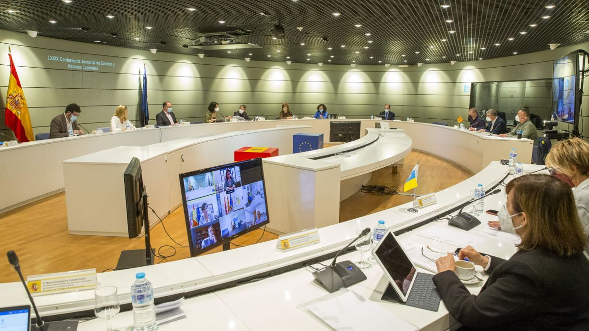 Conferencia sectorial de Empleo celebrada este 28 de abril en el Ministerio de Trabajo.