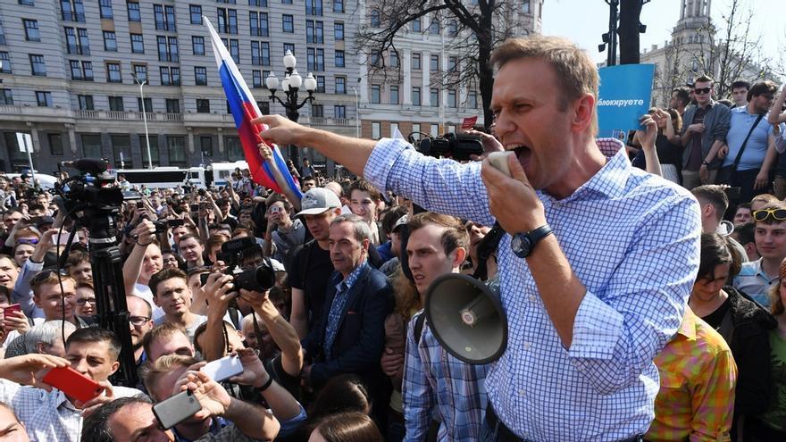 Represión y detenciones en Rusia durante las protestas de partidarios del opositor Navalny