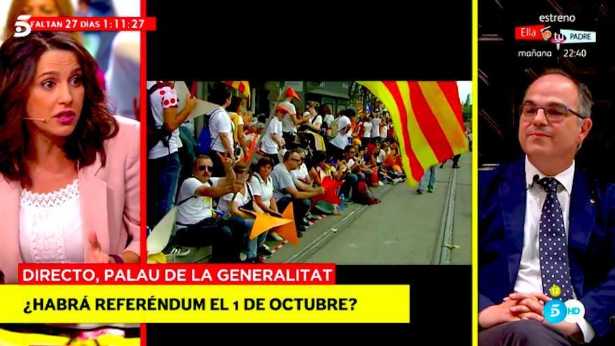 """Crispado debate sobre Cataluña en Madrid in Spain de Telecinco: """"Su espectáculo es vergonzoso, señor"""""""