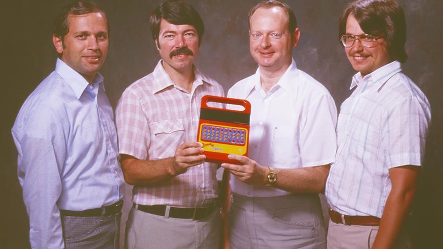Gene Frantz, Richard Wiggins, Paul Breedlove and Larry Brantingham, los creadores del juguete