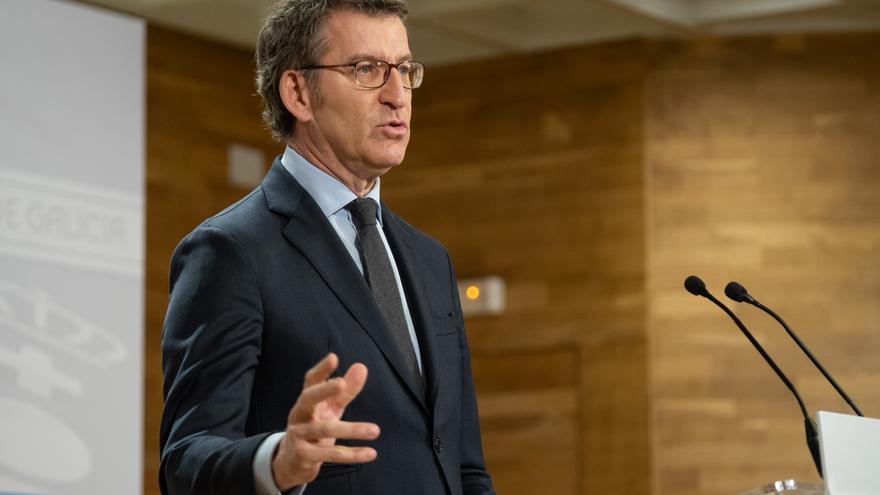 El presidente de la Xunta en su comparencia semanal tras el Consello de Gobierno.