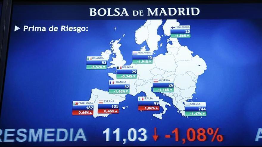 La prima de riesgo de España abre sin apenas cambios en 104 putos básicos
