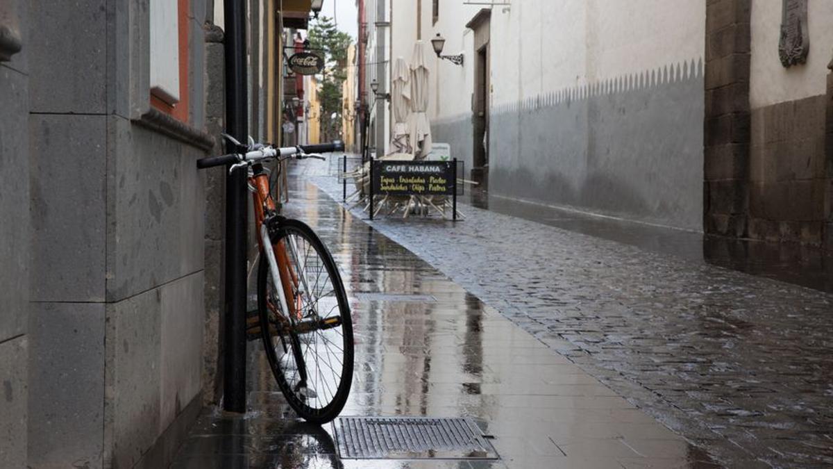 Lluvia en Las Palmas de Gran Canaria, en una imagen de archivo