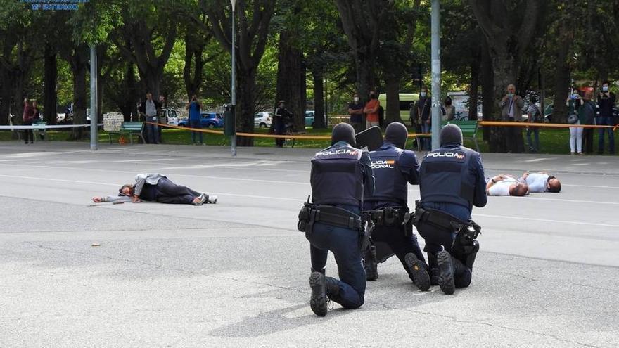 Simulacro en Pamplona de un incidente Amok