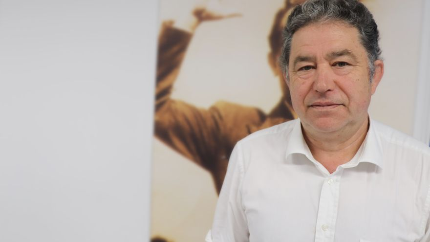 Miguel Anxo Fernández Lores, durante la entrevista
