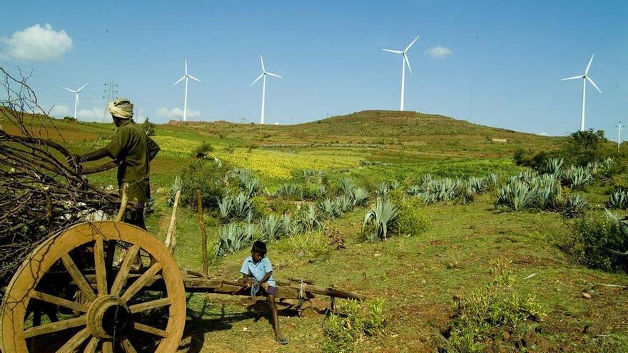 Granja de energía eólica en India
