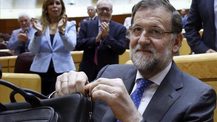 """Rajoy exhibe que el PP es el más votado al pedir el PSOE que """"haga las maletas"""""""