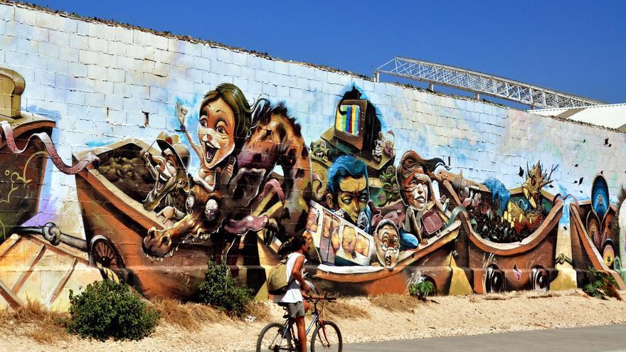 Arte urbano en Málaga.