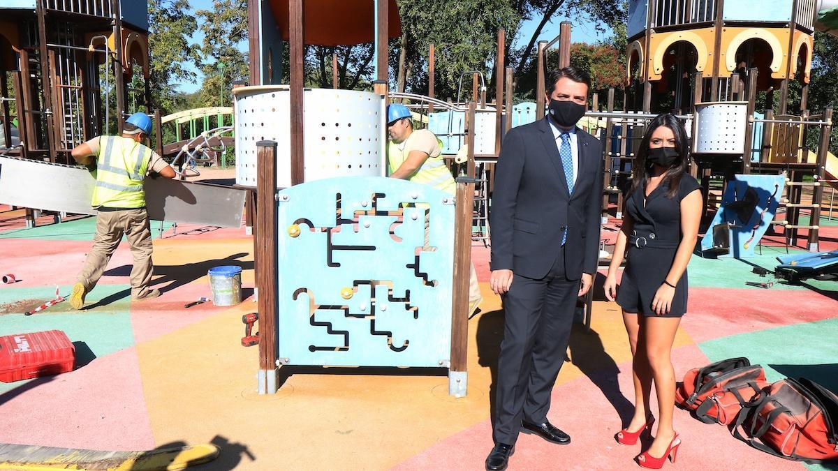 El alcalde y la presidenta del Ingema visitan las obras en la Ciudad de los Niños