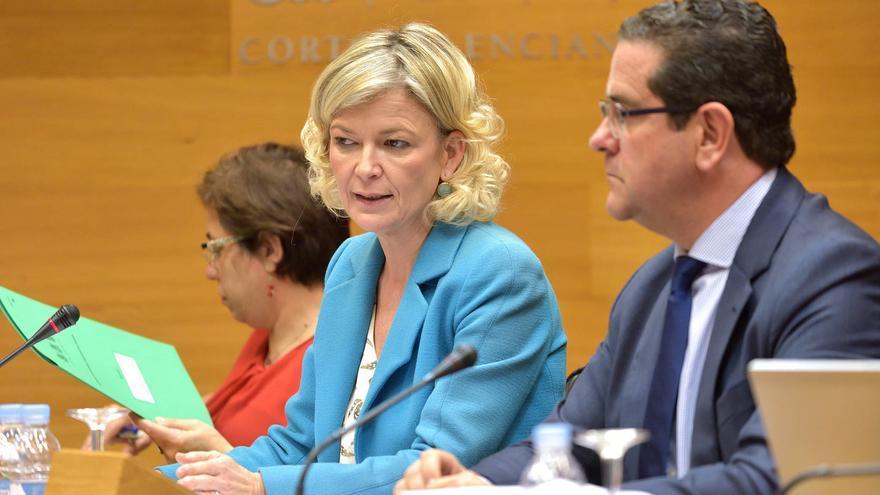 La consellera de Justicia, Gabriela Bravo, comparece en las Corts