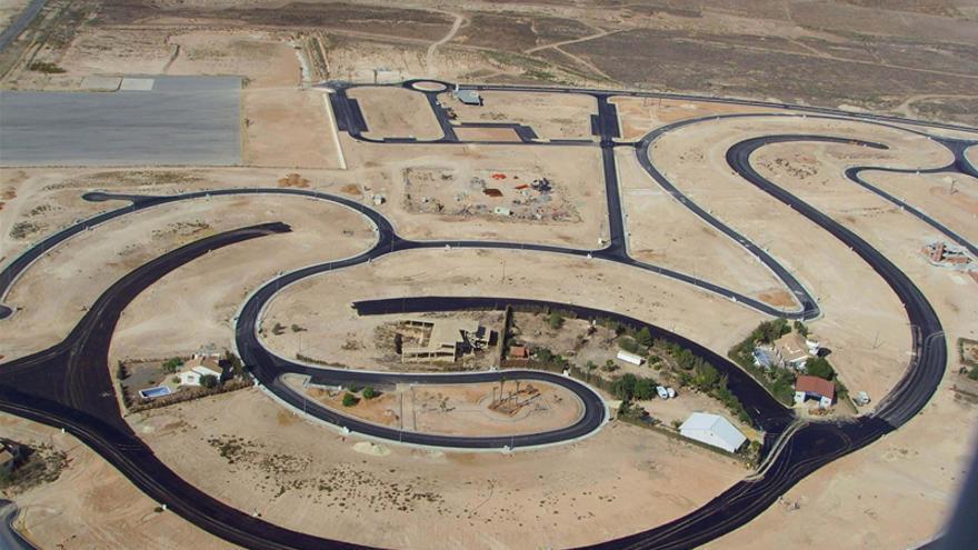 El proyecto de urganización en Alhama. FOTO: Global Costa