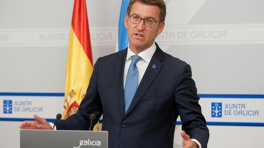 """Feijóo """"agradece"""" a Rajoy su presencia en Galicia y defiende hacer campaña por separado de los líderes estatales"""
