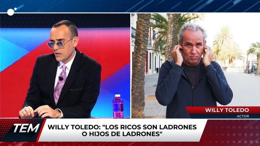 Risto Mejide y Willy Toledo en 'Todo es mentira'