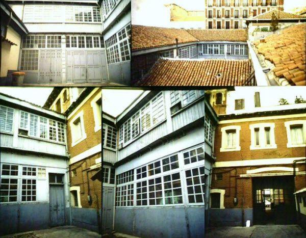 Imágenes de archivo del patio interior y los tejados del edificio Lamarca Hermanos   Fotografías: Ayuntamiento de Madrid