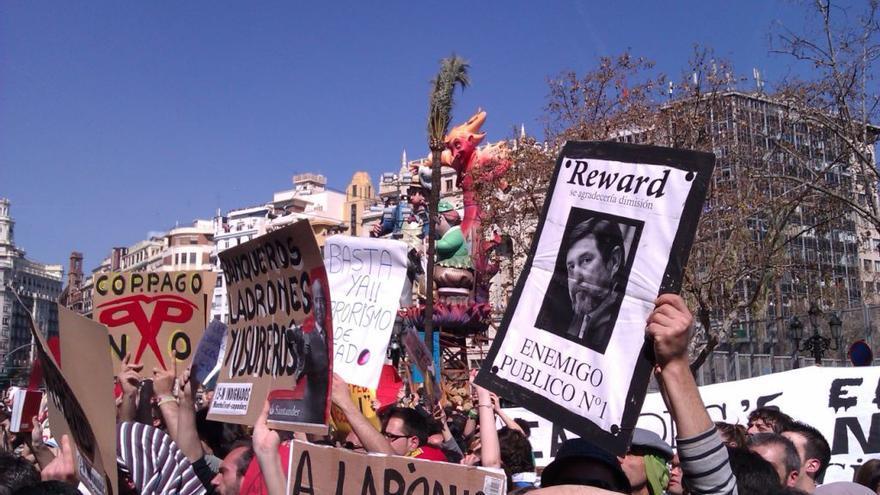 Una protesta de la Intifalla.