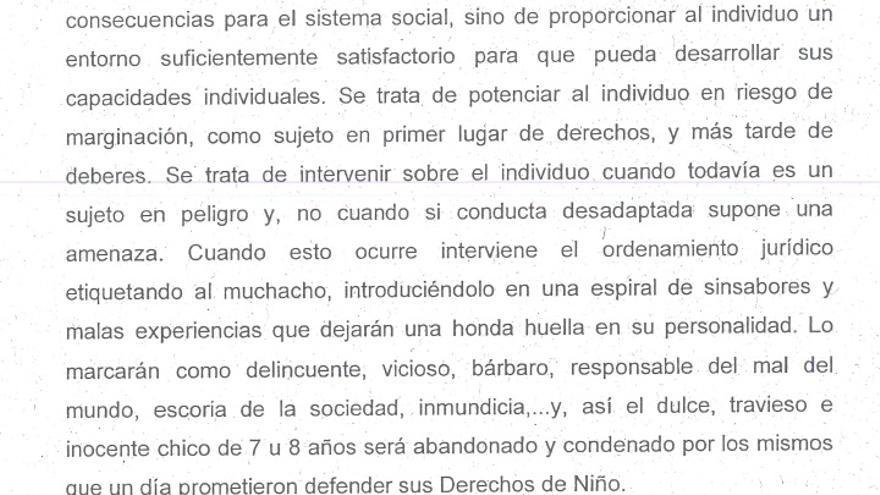 Documento presentado por Sánchez Robles