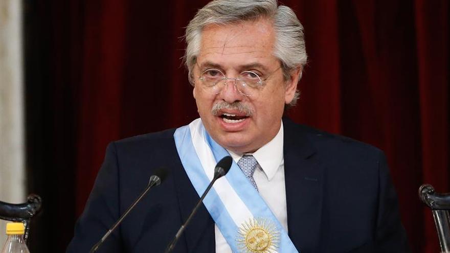 En la imagen, el presidente argentino, Alberto Fernández.