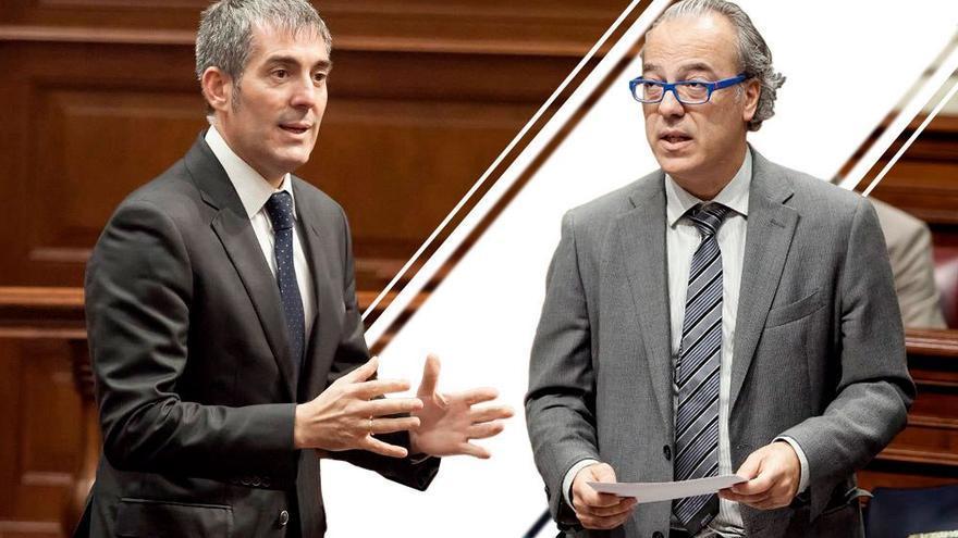 Fernando Clavijo, presidente del Gobierno de Canarias y Jesús Morera, exconsejero de Sanidad. (Canarias Ahora).