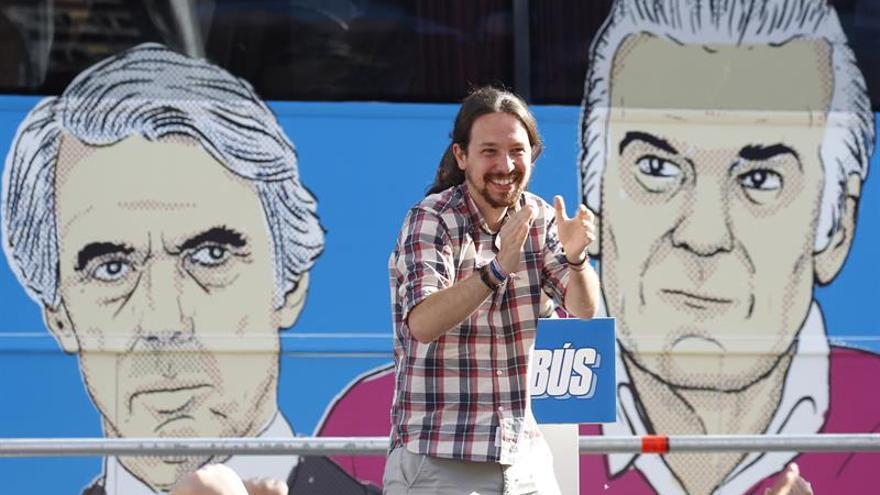 """Iglesias afirma que el PP se sostiene en un """"modelo de ciénaga y corrupción"""""""
