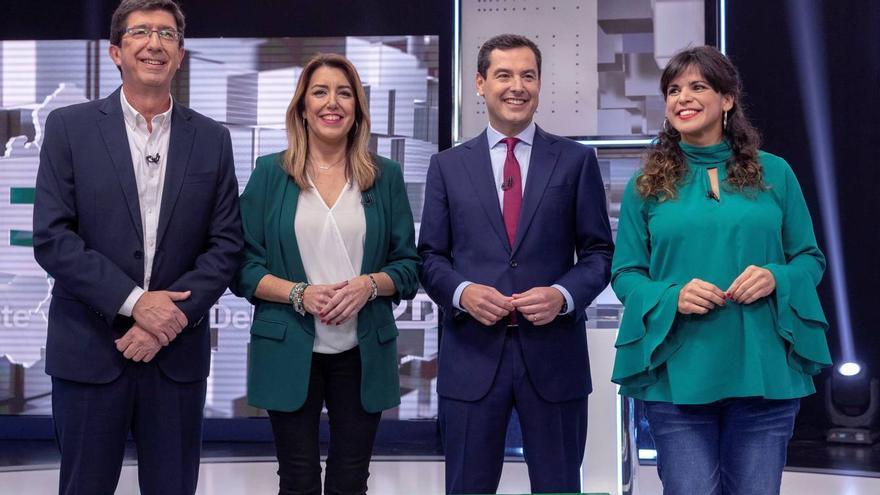 Candidatos a las elecciones de Andalucía. EFE