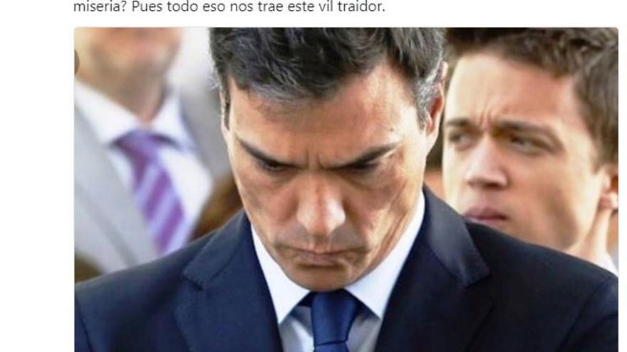 """El delegado del Gobierno en Murcia llama """"vil traidor"""" a Sánchez y ..."""