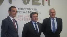 Los responsables de la Federación Vizcaína de Empresas del Metal.