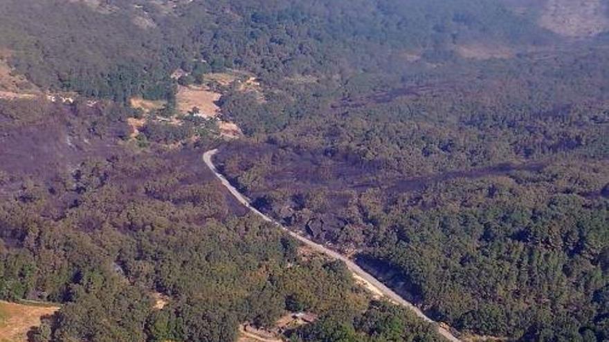 incendio San Martin Trevejo Gata