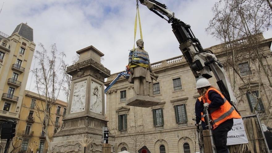 Barcelona retira la estatua del primer marqués de Comillas