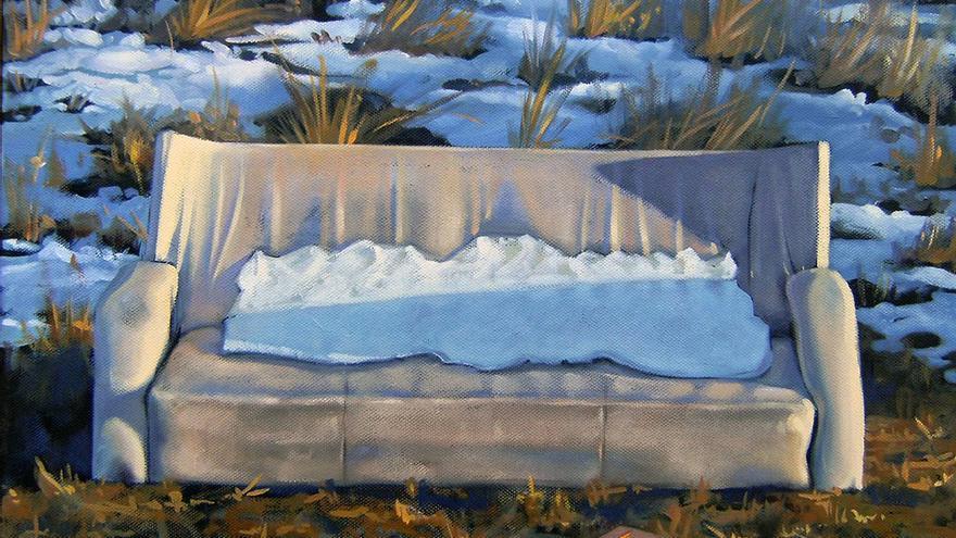 Sofá en la nieve. (Fernando Oliver).