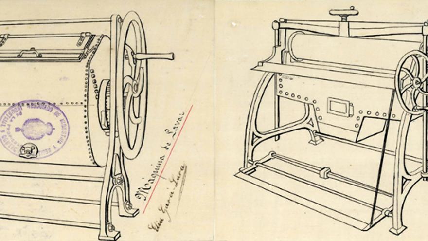 Dos de las máquinas inventadas por la valenciana Elia Garci-Lara: una para lavar (izquierda) y una para planchar (derecha)