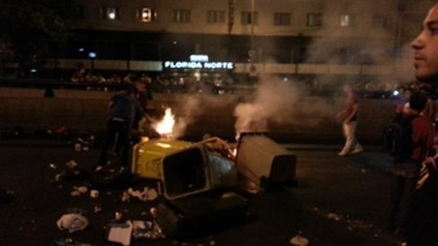 Disturbios durante el festival MTV Beach Madrid