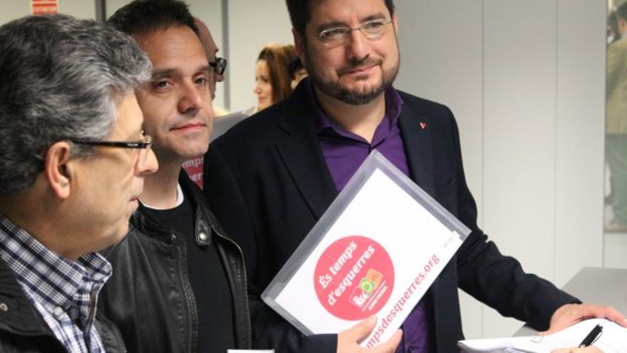 Ignacio Blanco y Amadeu Sanchis han registrado hoy las listas electorales