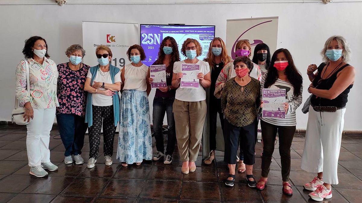 Presentación de las actividades por el 25N en la Diputación.