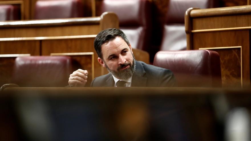 Santiago Abascal, durante el último pleno del Congreso.