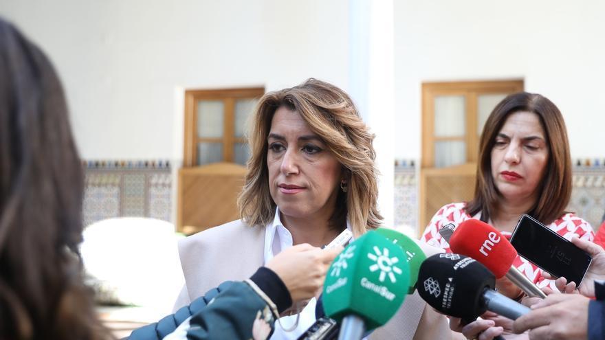 """Susana Díaz exige a la Junta """"no parar más"""" el decreto que desarrolla la Ley para que """"Queipo sea el siguiente"""""""