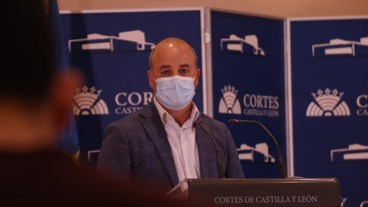 David Castaño, en la rueda de prensa de esta mañana.