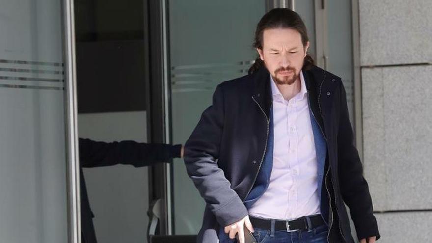 Iglesias llega a la Audiencia Nacional como perjudicado por el caso Villarejo