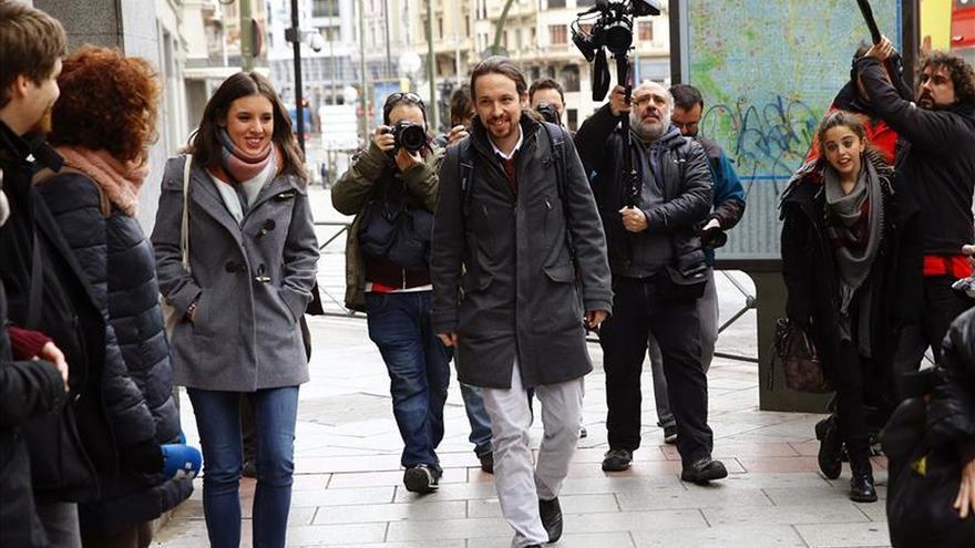 Pablo Iglesias, antes del Consejo Ciudadano de Podemos.