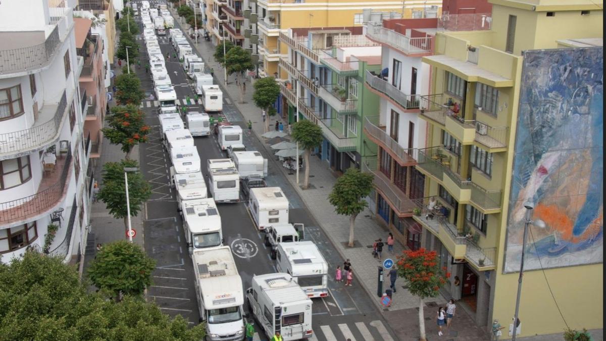 Imagen de archivo de las caravanas.