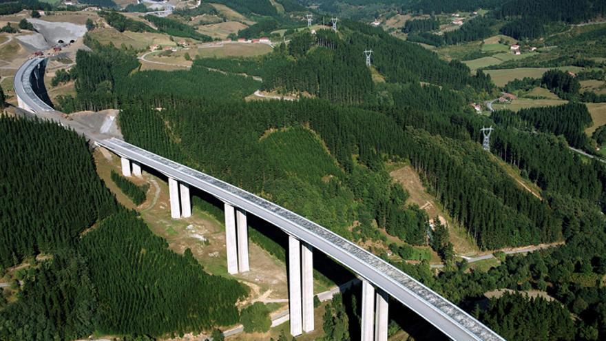 Una imagen de la AP1, que conecta Eibar con Vitoria.