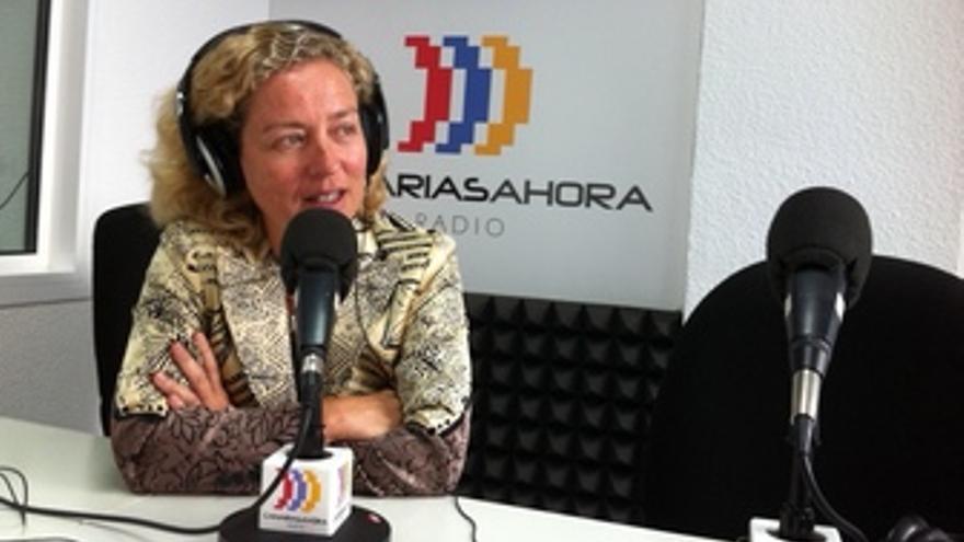 Ana Oramas, este martes en los estudios de CANARIAS AHORA RADIO.