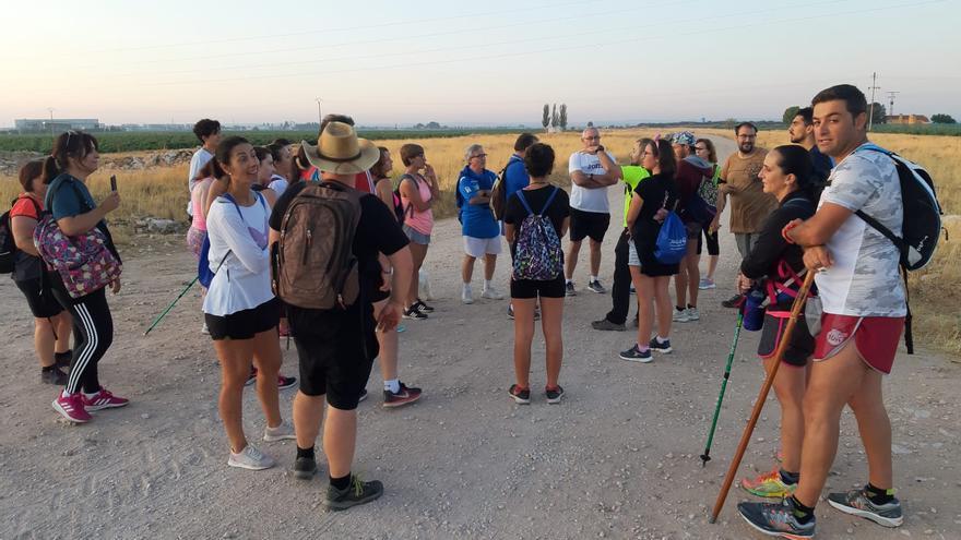 Participantes en las rutas por los caminos de Socuéllamos, en una edición anterior