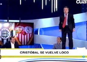 Cristóbal Soria se vuelve loco en 'Tiki Taka' tras la agónica victoria del Sevilla