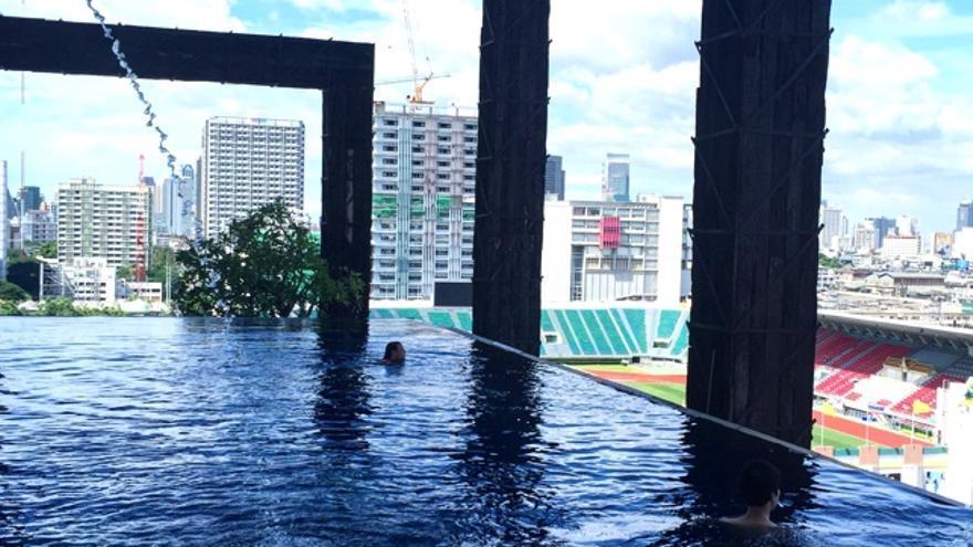 Piscina del Siam Siam Hotel en Bangkok, Thailandia. Foto: Jordi Sabaté.